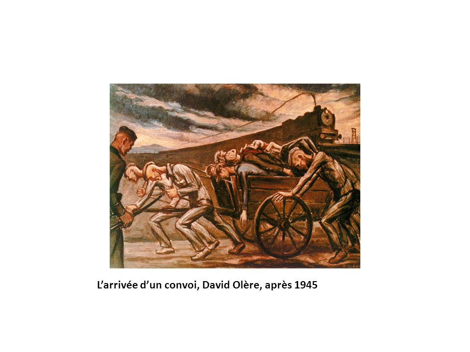 L'arrivée d'un convoi, David Olère, après 1945