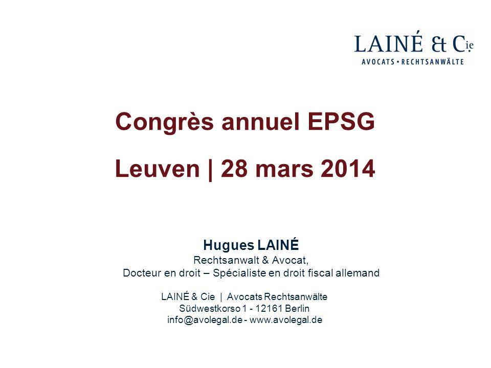 Congrès annuel EPSG Leuven | 28 mars 2014