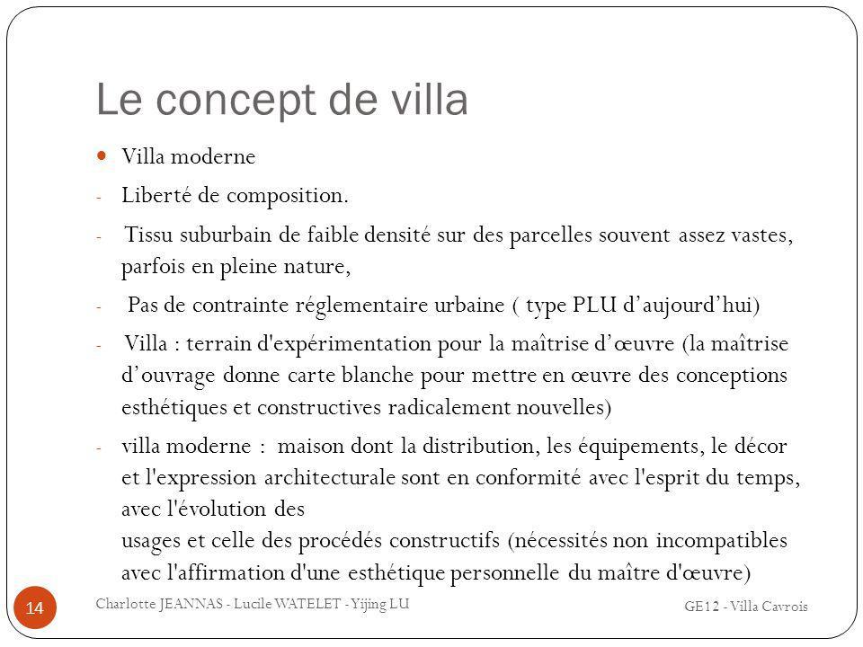 Le concept de villa Villa moderne Liberté de composition.