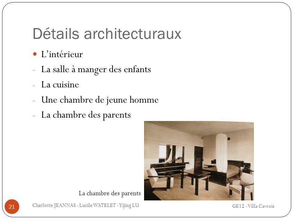 Détails architecturaux