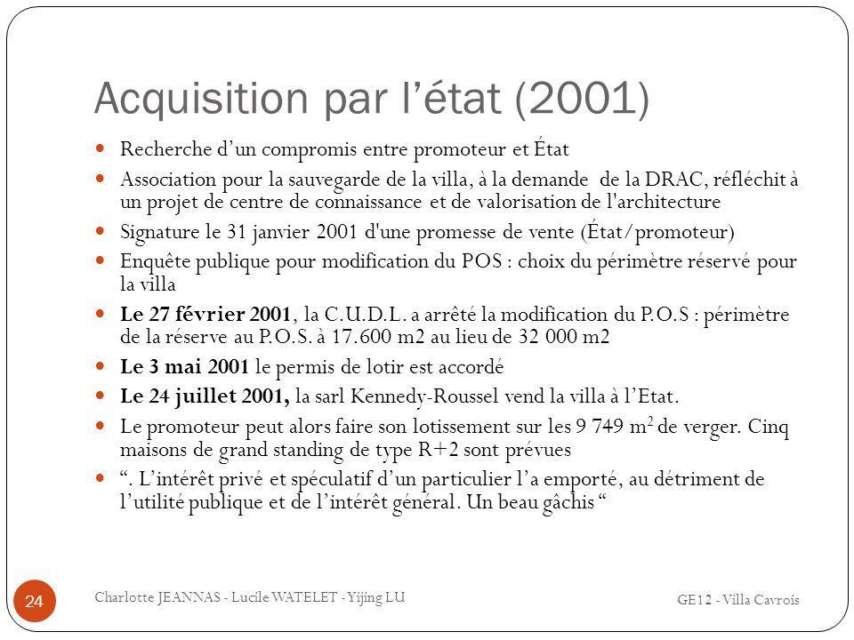 Acquisition par l'état (2001)