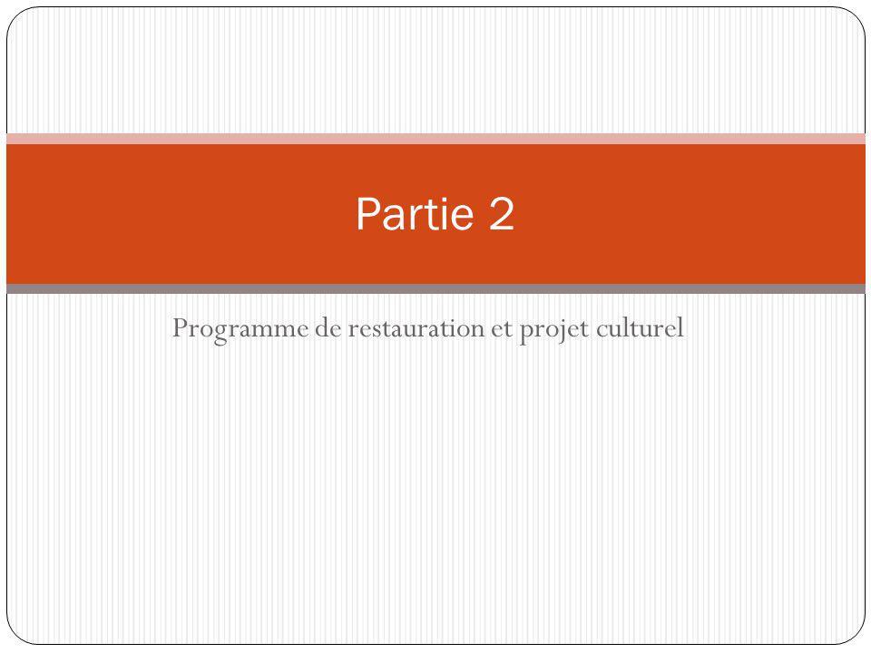 Programme de restauration et projet culturel