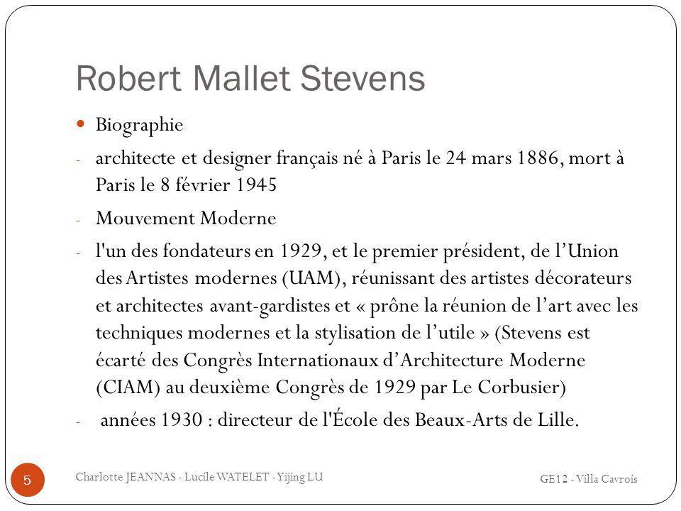 Robert Mallet Stevens Biographie