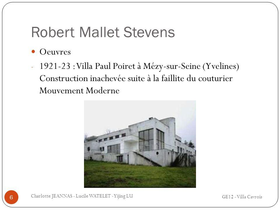 Oeuvre de robert mallet stevens ppt video online t l charger for Construction suite online
