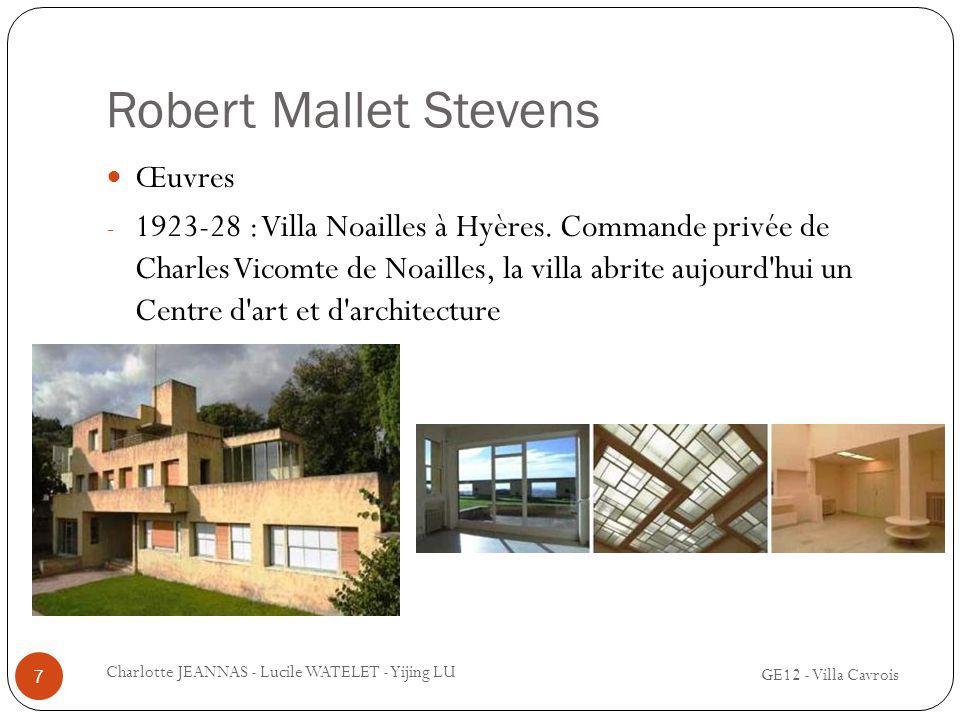Robert Mallet Stevens Œuvres