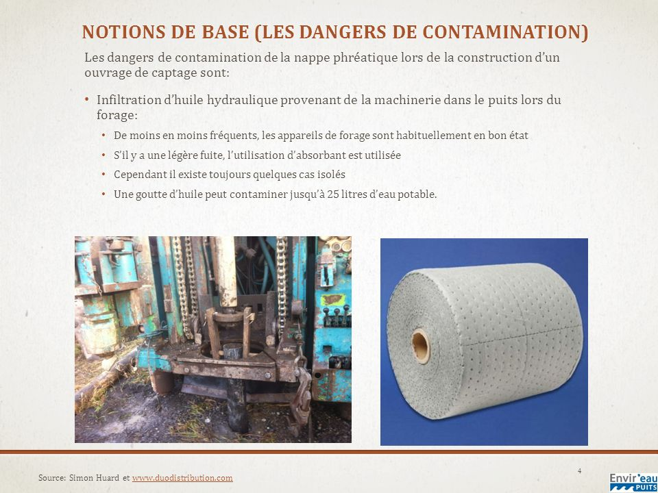 Notions de base (les dangers de contamination)