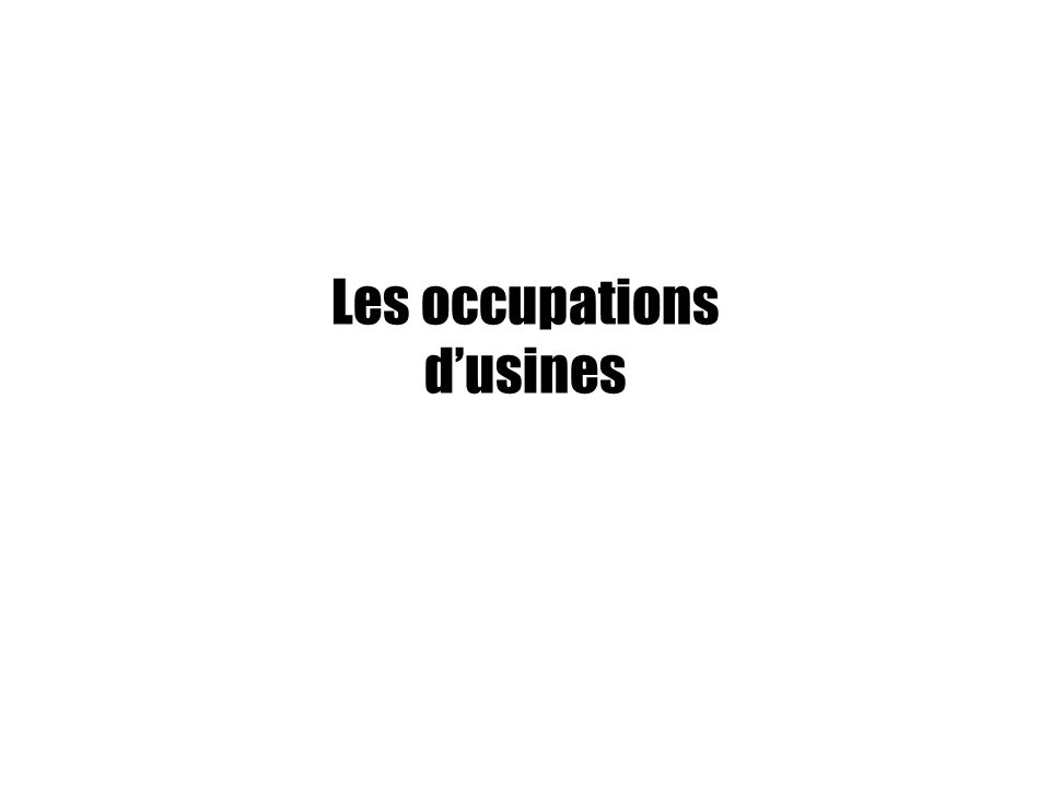 Les occupations d'usines