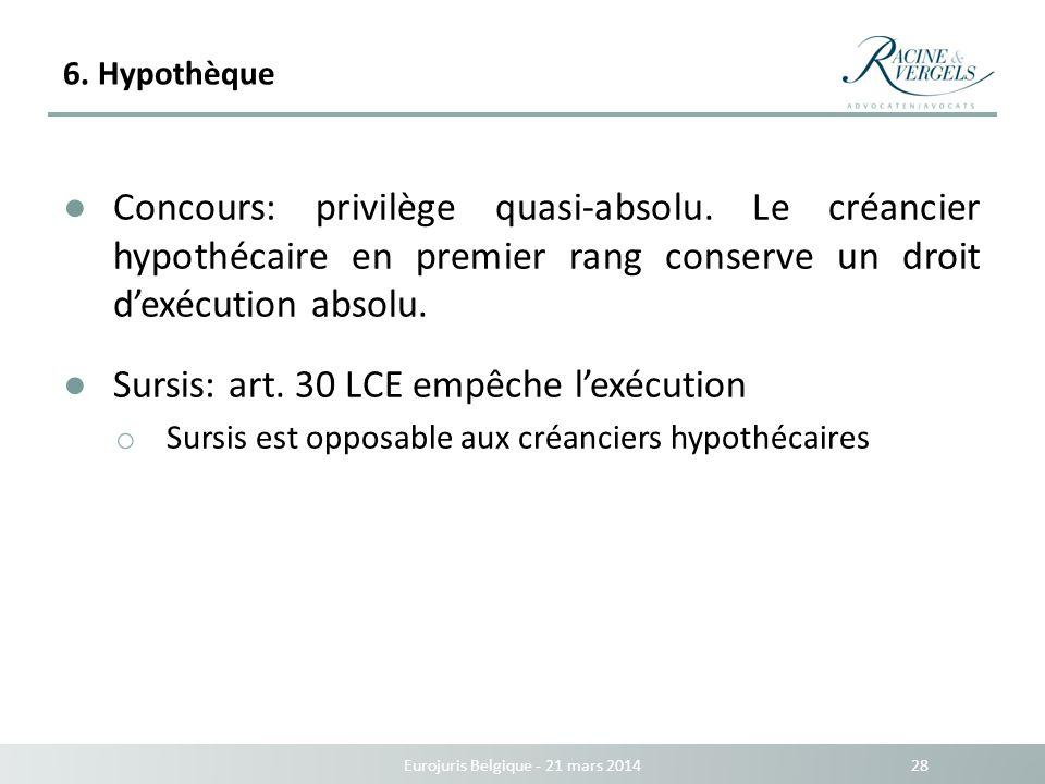 Eurojuris Belgique - 21 mars 2014