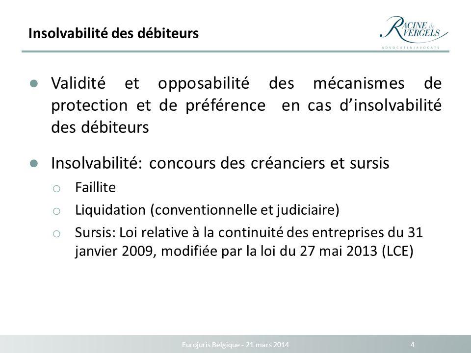 Insolvabilité des débiteurs