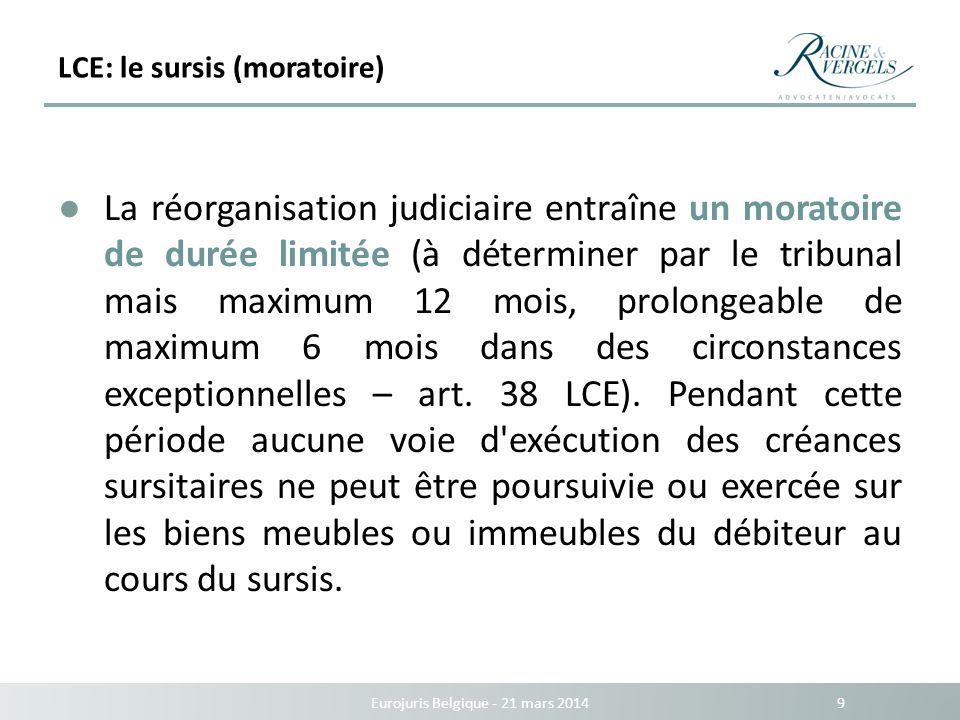 LCE: le sursis (moratoire)