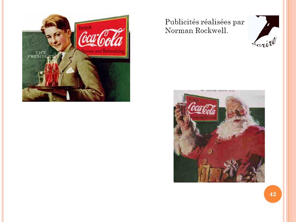Publicités réalisées par Norman Rockwell.