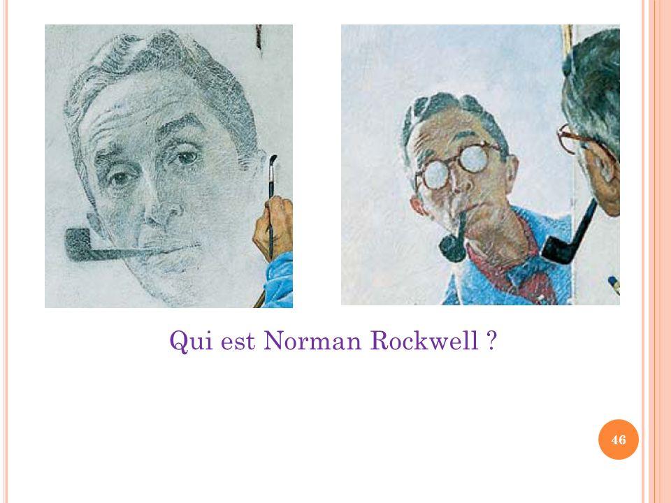 Qui est Norman Rockwell