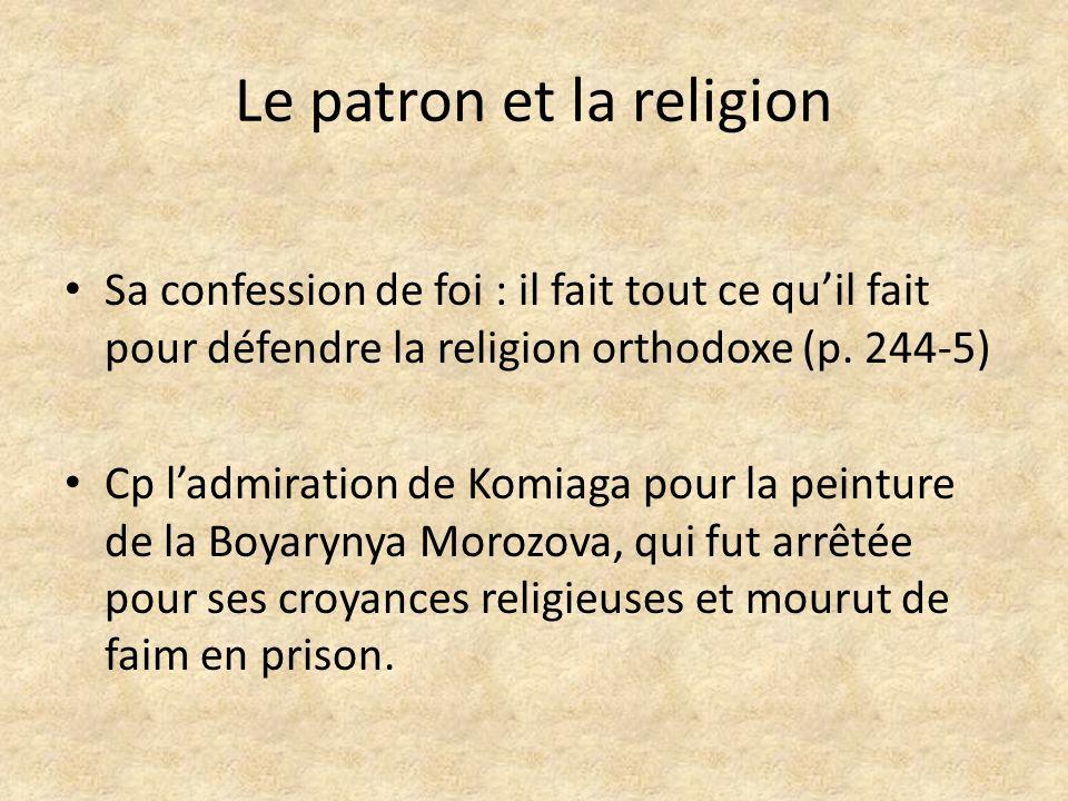 Le patron et la religion