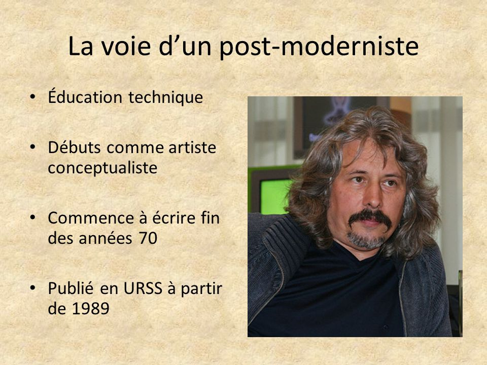 La voie d'un post-moderniste