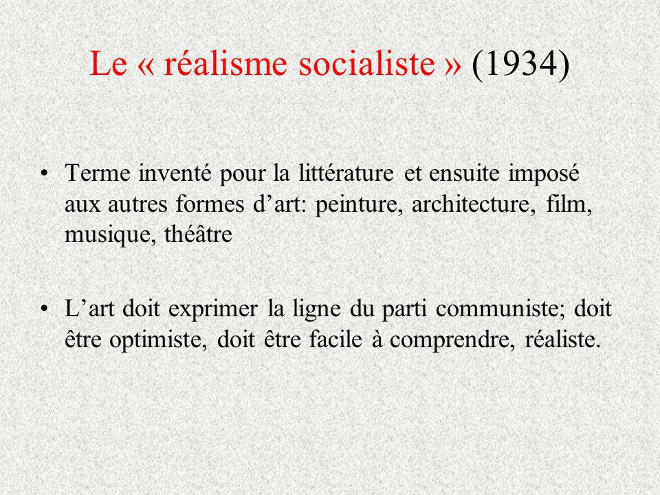 Le « réalisme socialiste » (1934)
