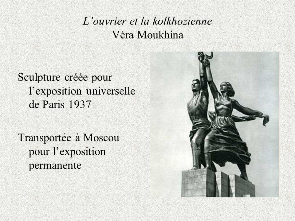L'ouvrier et la kolkhozienne Véra Moukhina