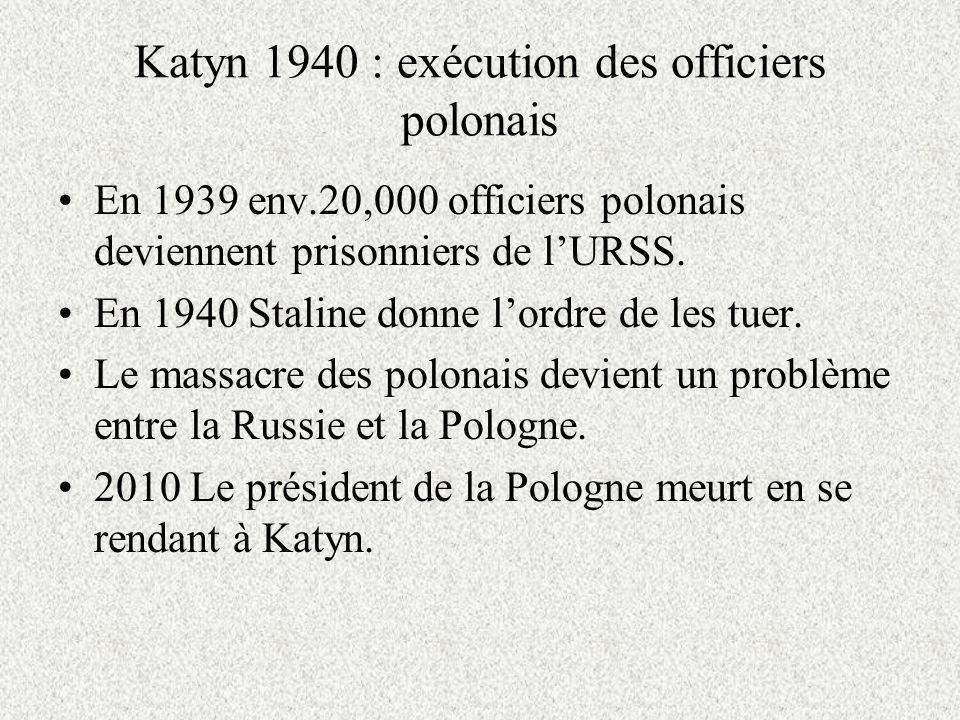 Katyn 1940 : exécution des officiers polonais