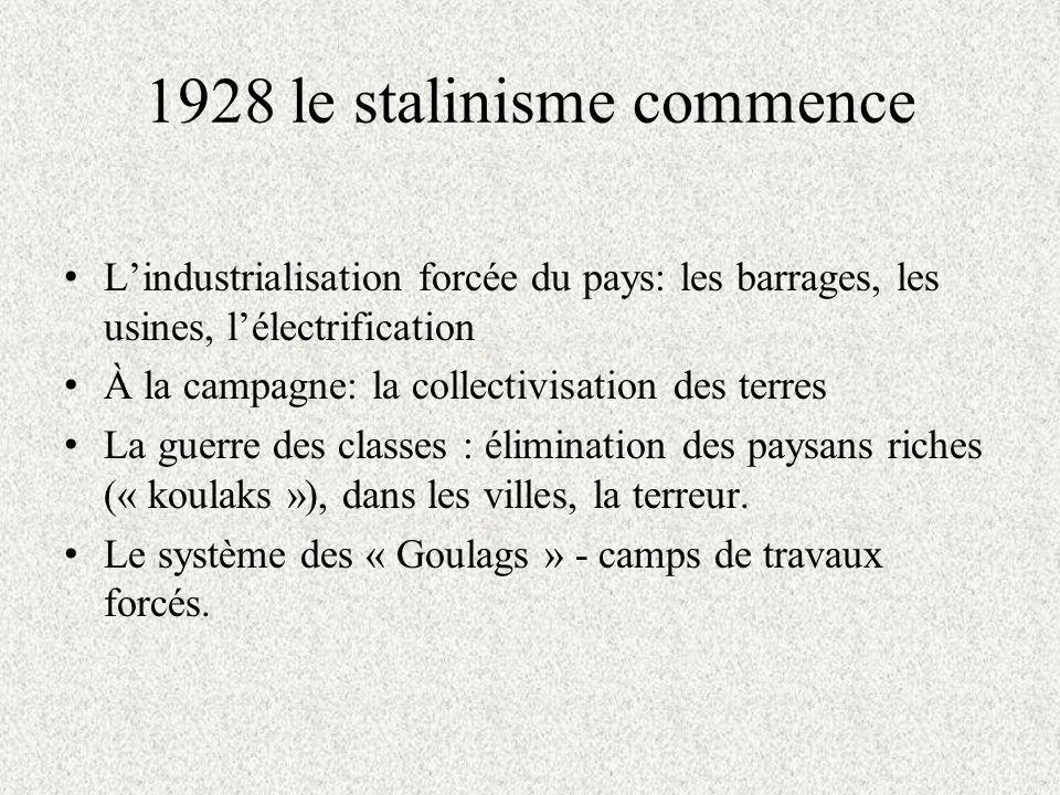 1928 le stalinisme commence