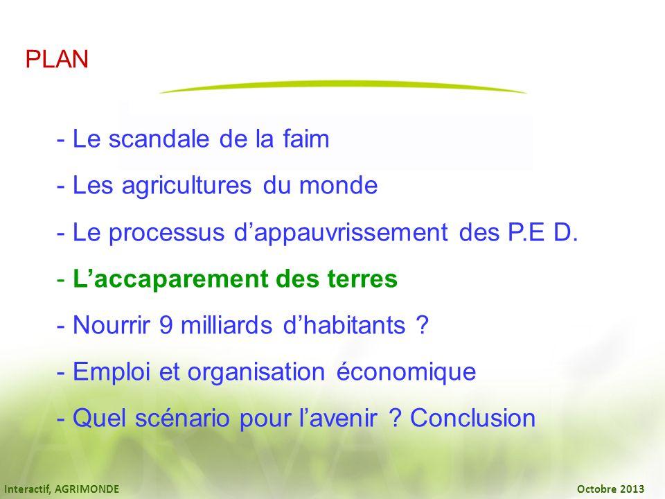 Les agricultures du monde Le processus d'appauvrissement des P.E D.