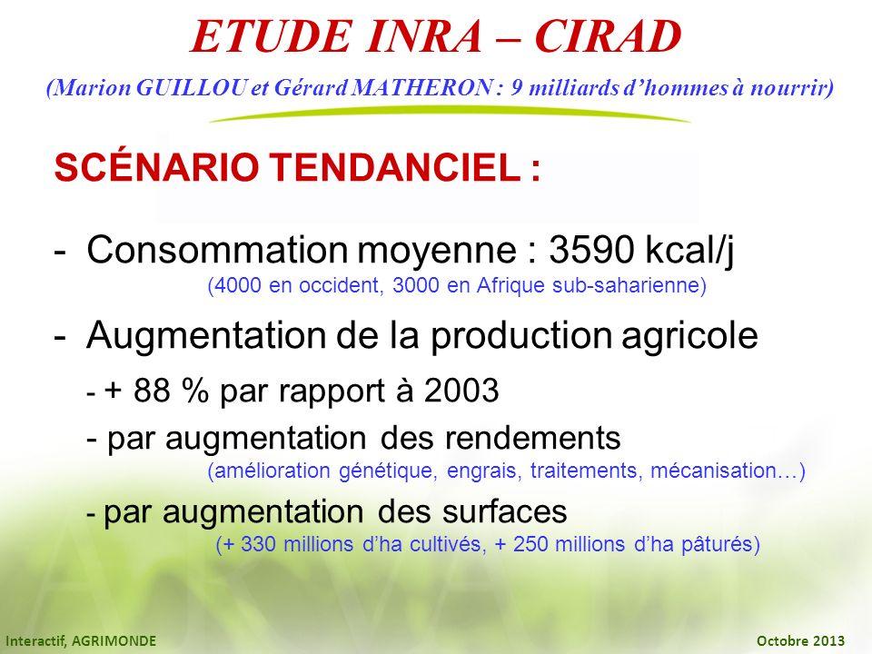 ETUDE INRA – CIRAD (Marion GUILLOU et Gérard MATHERON : 9 milliards d'hommes à nourrir)