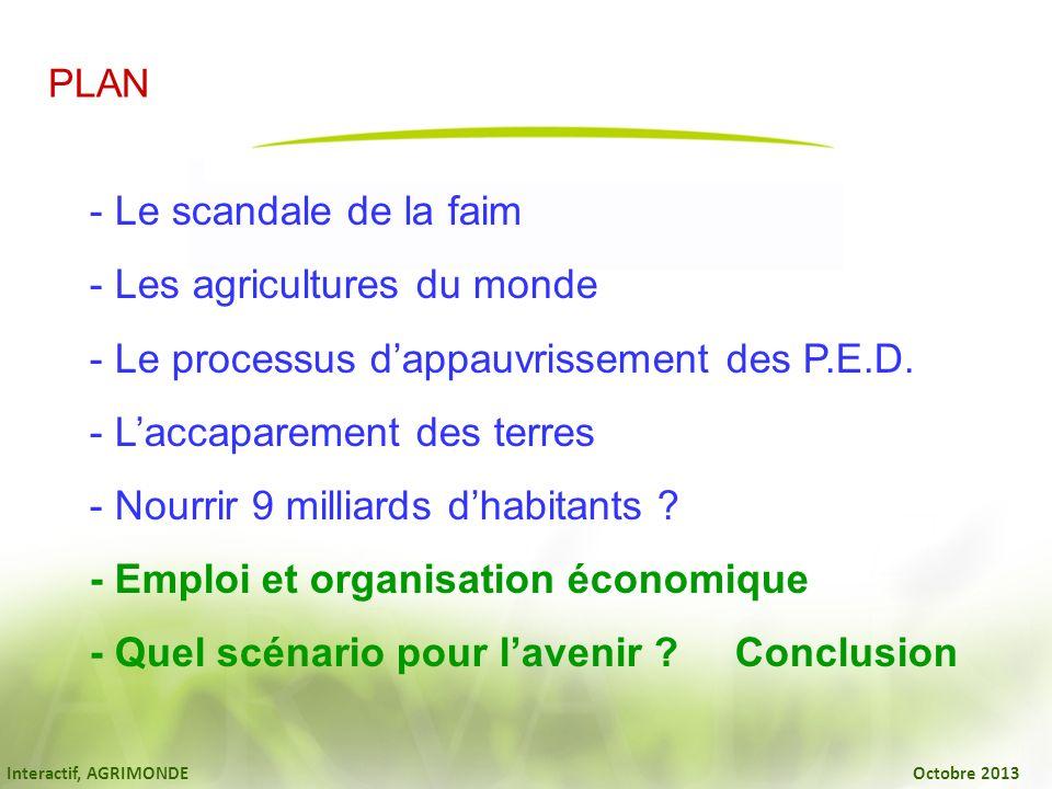 Les agricultures du monde Le processus d'appauvrissement des P.E.D.