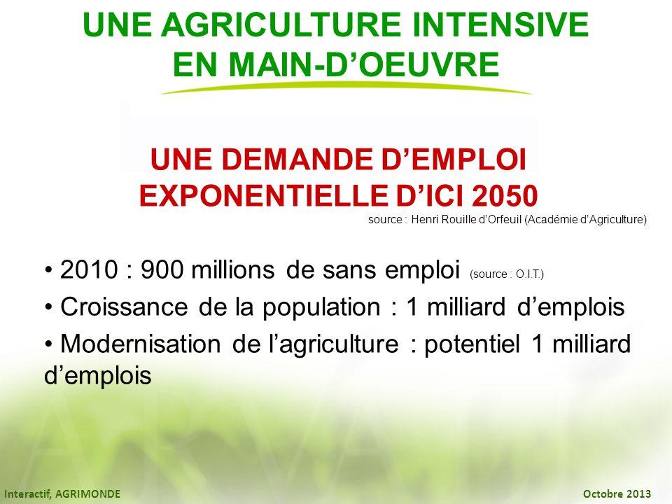 UNE AGRICULTURE INTENSIVE EN MAIN-D'OEUVRE