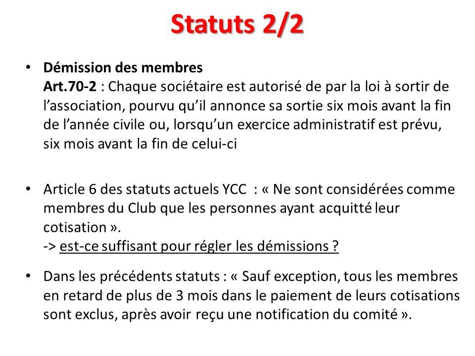 Statuts 2/2
