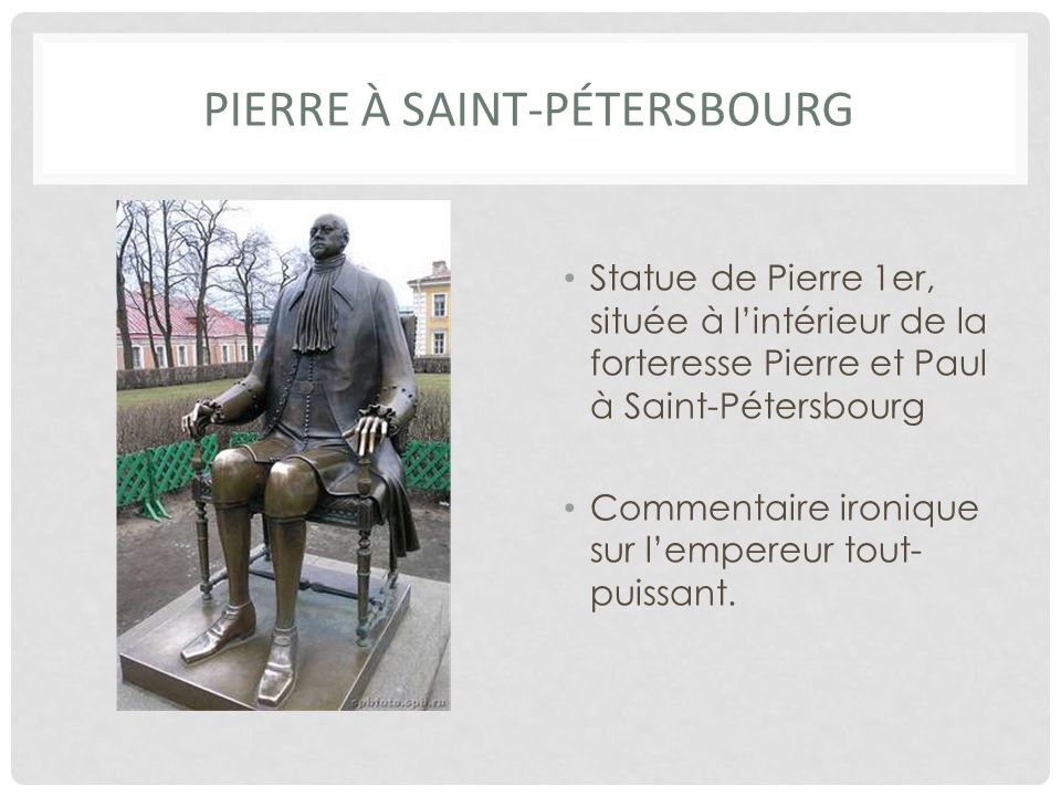 Pierre à saint-Pétersbourg