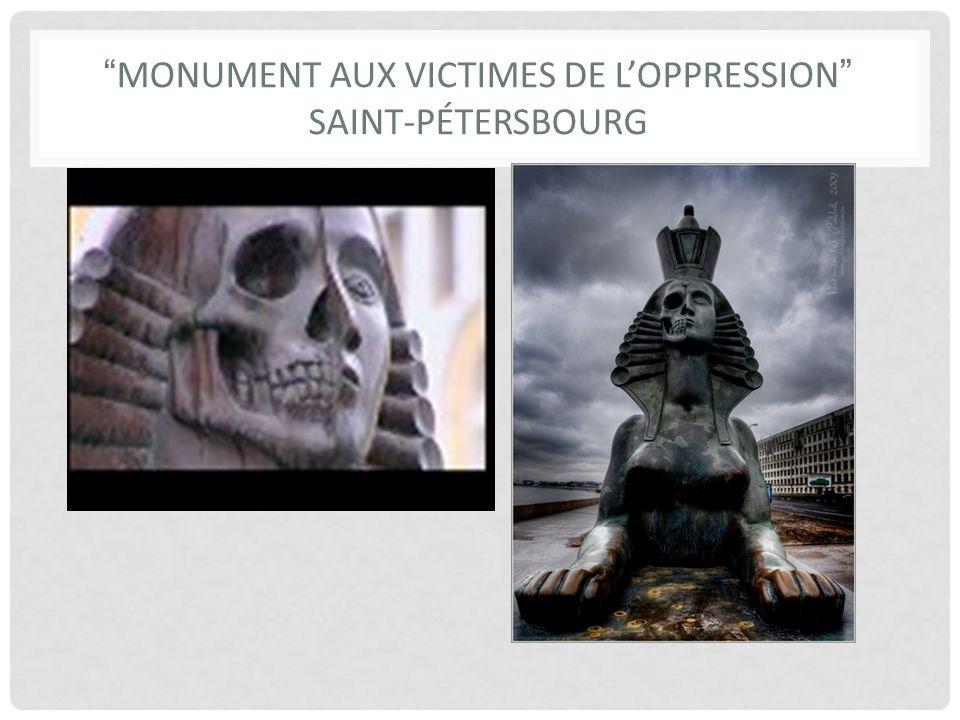 Monument AUX VICTIMES DE L'OPPRESSION SAINT-PÉTERSBOURG