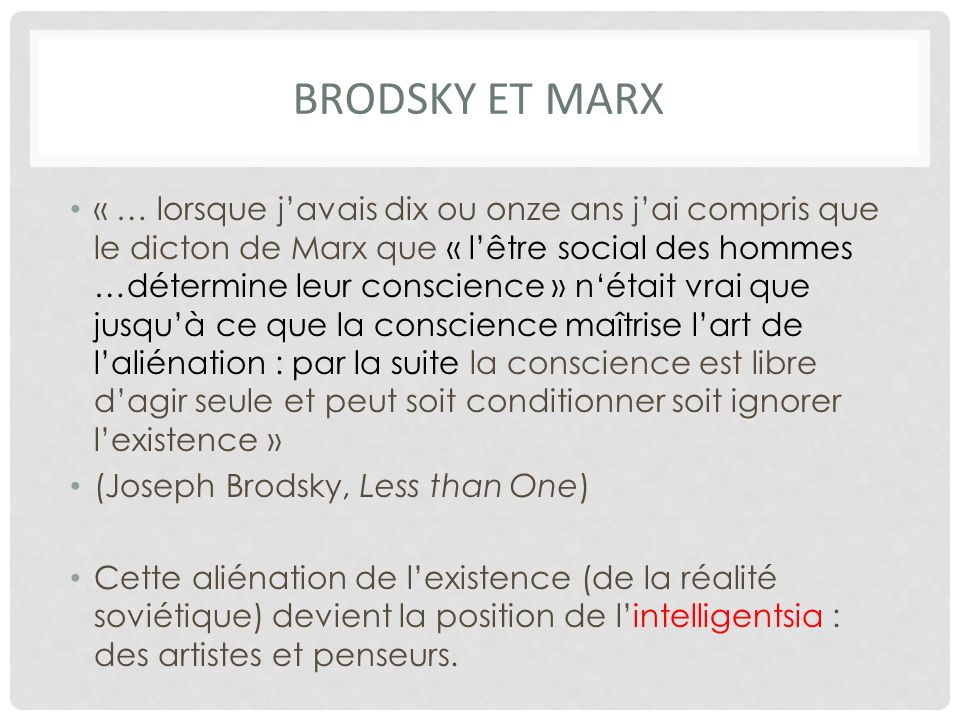 Brodsky ET Marx