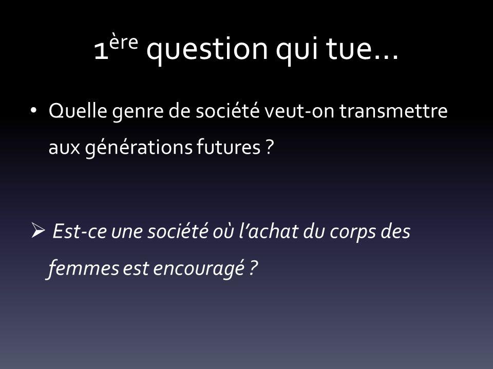1ère question qui tue… Quelle genre de société veut-on transmettre aux générations futures
