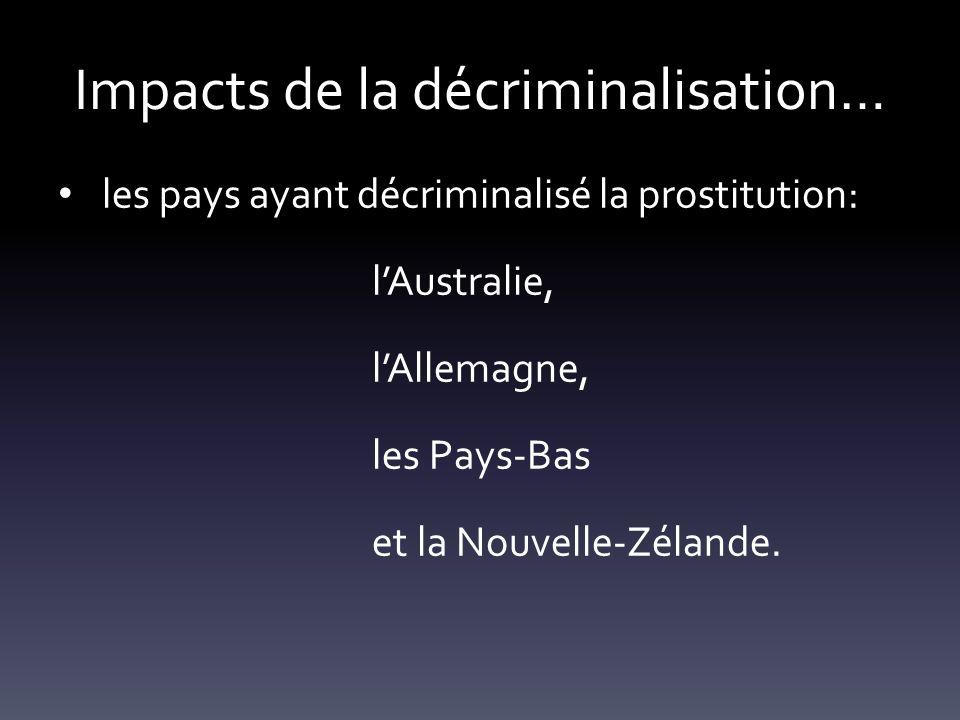 Impacts de la décriminalisation…