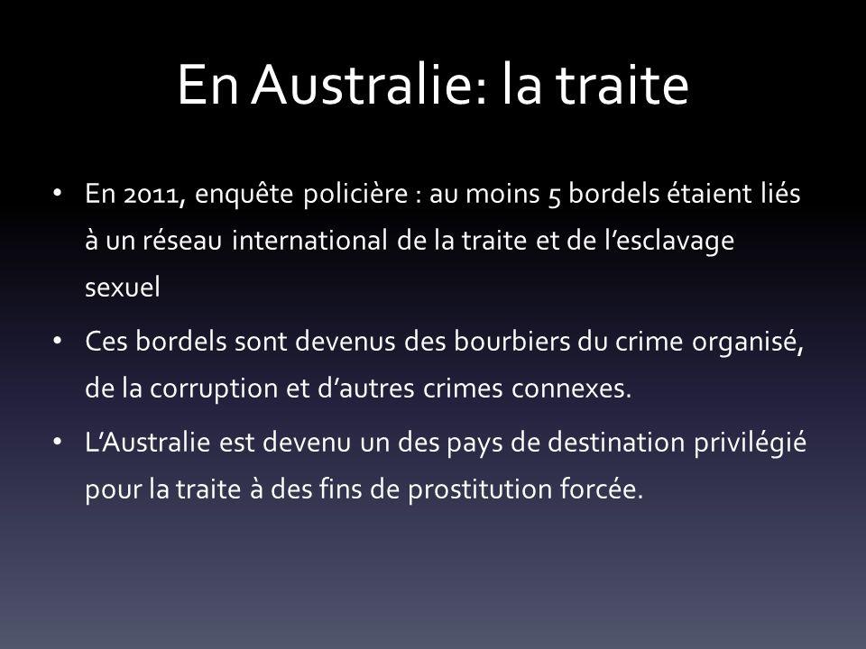 En Australie: la traite