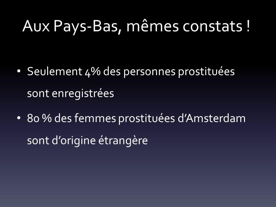 Aux Pays-Bas, mêmes constats !