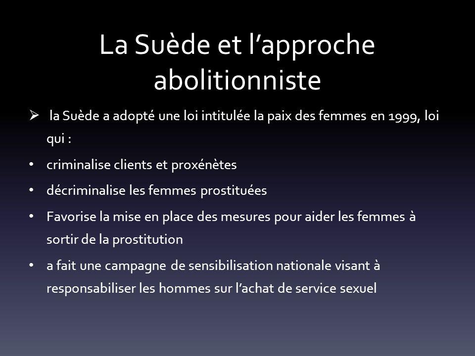 La Suède et l'approche abolitionniste
