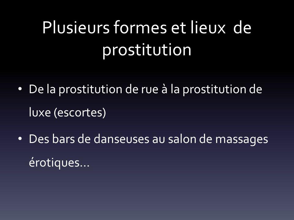 Plusieurs formes et lieux de prostitution
