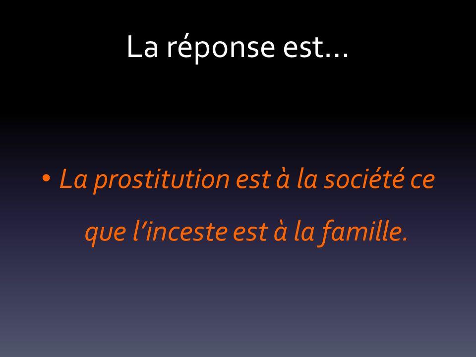 La prostitution est à la société ce que l'inceste est à la famille.