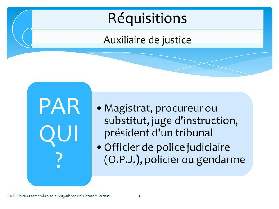 Magistrat, procureur ou substitut, juge d instruction, président d un tribunal
