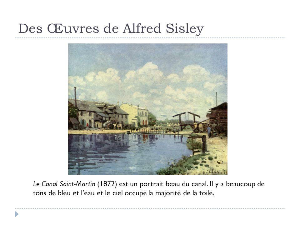 Des Œuvres de Alfred Sisley