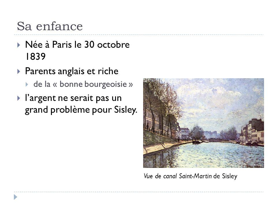 Sa enfance Née à Paris le 30 octobre 1839 Parents anglais et riche