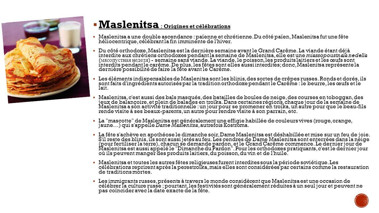 Maslenitsa : Origines et célébrations