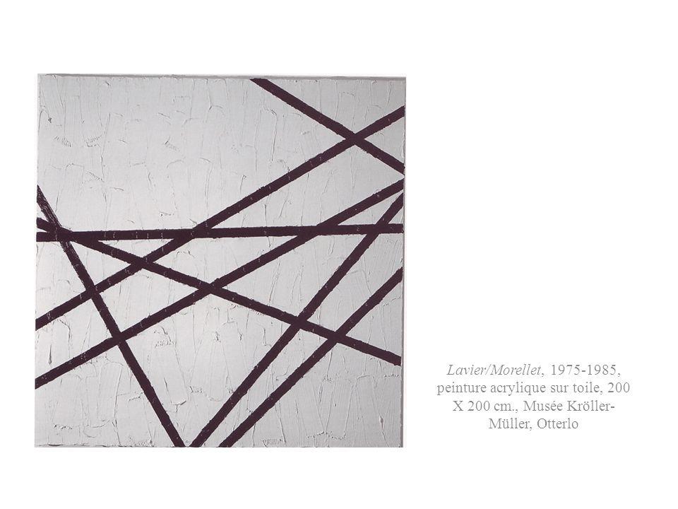 Lavier/Morellet, 1975-1985, peinture acrylique sur toile, 200 X 200 cm