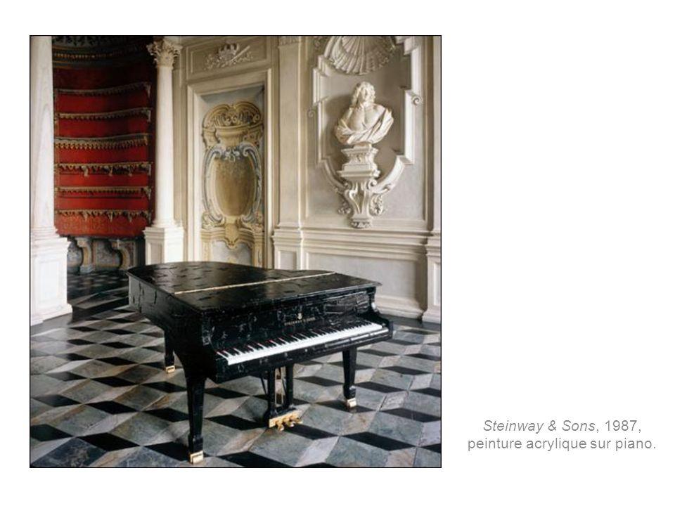 Steinway & Sons, 1987, peinture acrylique sur piano.