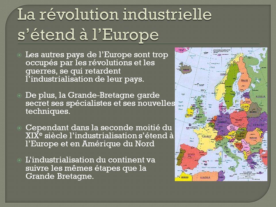 La révolution industrielle s'étend à l'Europe