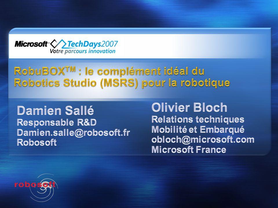 Damien Sallé Responsable R&D Damien.salle@robosoft.fr Robosoft