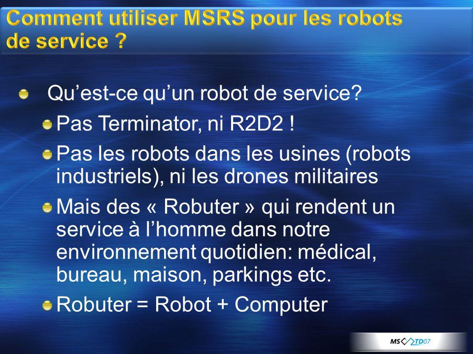 Comment utiliser MSRS pour les robots de service