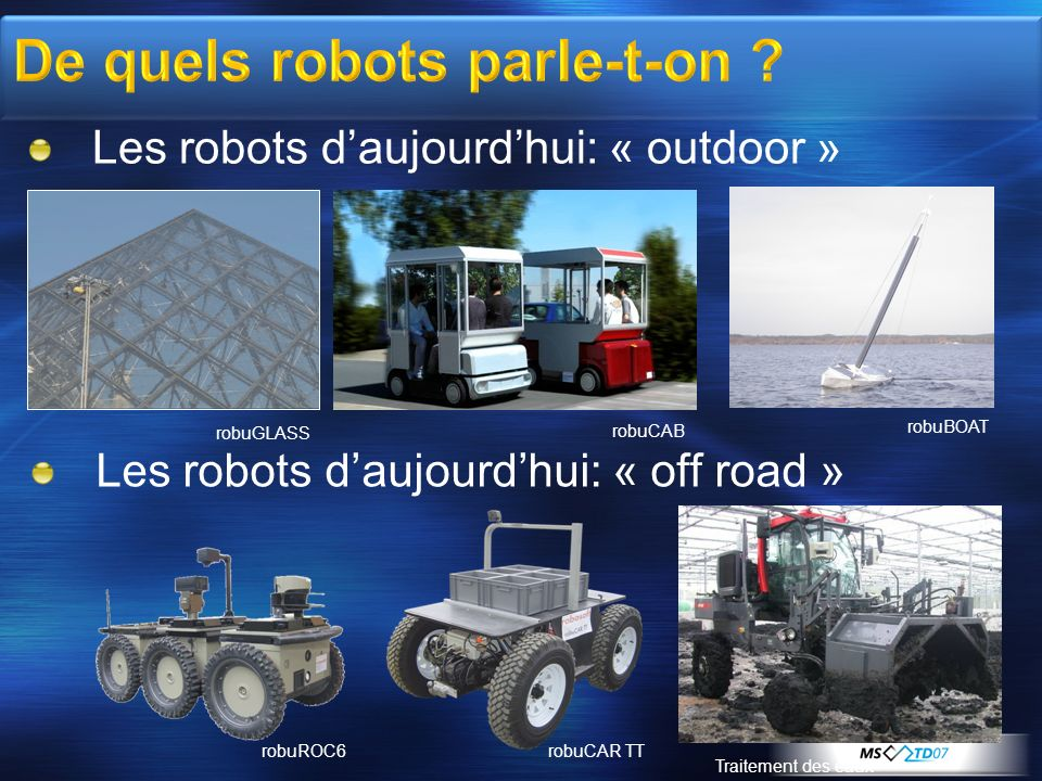 De quels robots parle-t-on
