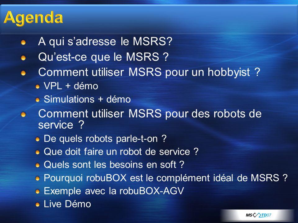 Agenda A qui s'adresse le MSRS Qu'est-ce que le MSRS