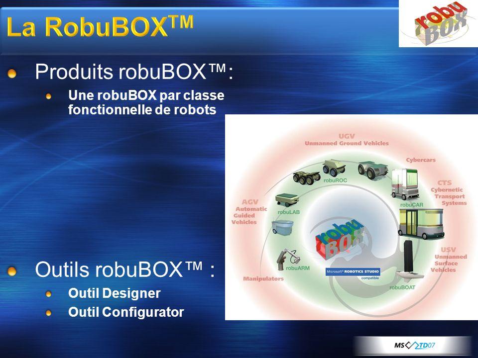 La RobuBOXTM Produits robuBOX™: Outils robuBOX™ :