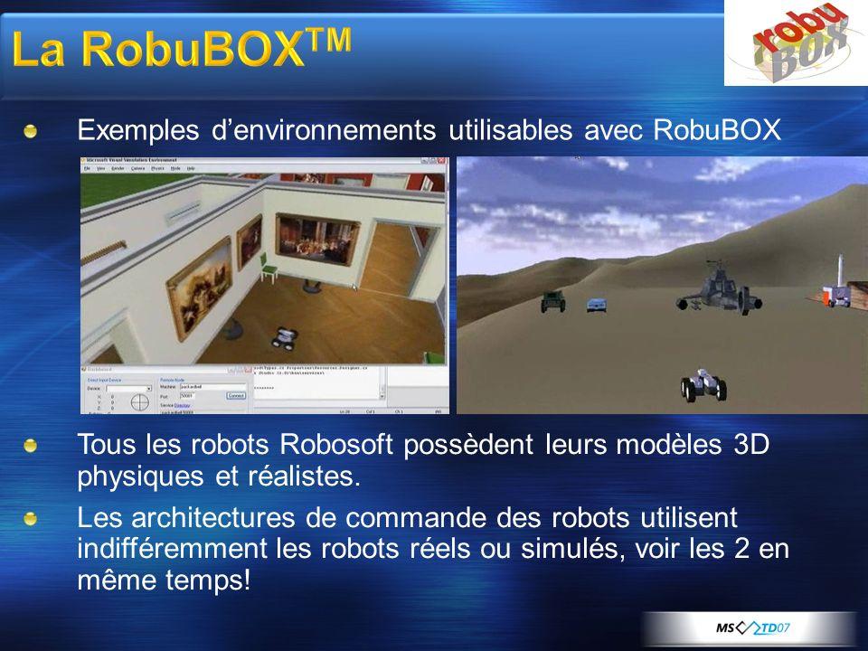 La RobuBOXTM Exemples d'environnements utilisables avec RobuBOX